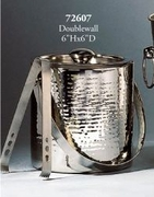 Ice Bucket Double Wall Hammered Stainless Steel  with Tongs