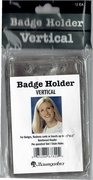 Baumgartens ID Badge Holders Vertical 12/pkg