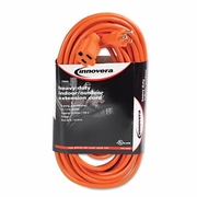 Innovera Indoor Outdoor Extension Cord, 50 Feet, Orange