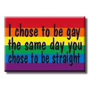 Gay Pride Refrigerator Magnet I Chose to be gay the same day you chose to be straight