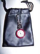 Keychain Mini Pocket Watch Red Bezel