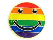 Lapel Pin Rainbow Smiley Face
