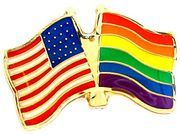Lapel Pin USA/Rainbow Flags