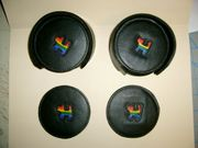 Leather Gay Pride Coasters  Set Closeout!