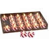 LED Candy Cane Tea Lights  set of 24