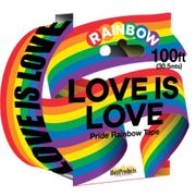 Love Is Love Rainbow Caution Party Tape. 100'
