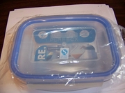 "Luminarc Pure Box Rect Glass Dish with Snap-lock Lid 5.3""x3.9""x2.1"