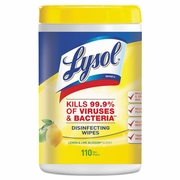 LYSOL Brand Disinfecting Wipes Lemon & Lime Blossom  Scent 110ct  6/csTub