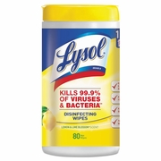 LYSOL Brand Disinfecting Wipes  80 ct Tub  Lemon & Lime Blossom  Scent  6/cs