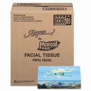 Marcal Aspen  Two-Ply 100% Premium Recycled Facial Tissue  36 bx/cs  FREE SHIPPING