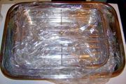 """McSunley Stainless Steel 2pc  Baking / Lasagna Set #508 12"""" x 9"""" and 16"""" x 11"""""""