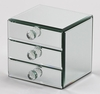Mirrored Jewelry Box Juna  3 Drawer
