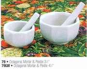 Mortar and Pestle Octagonal