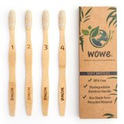 Natural Bamboo Toothbrush for Adults