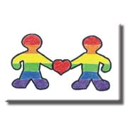 Gay Pride Refrigerator Magnet Rainbow People