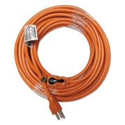 Innovera Indoor Extension Cord, Locking Plug, 50ft, Orange