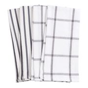 HIC Pantry Kitchen Towel,  20 in. x 30 in. Set of 4  PEWTER