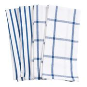 HIC Pantry Kitchen Towel,  20 in. x 30 in. Set of 4   ROYAL BLUE