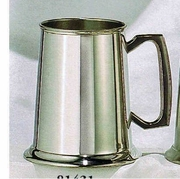 Pewter Tankard Mirror Finish with Glass Bottom