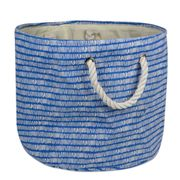 Storage Bin Round Polyester BLUE MEDIUM 15 dia.x 12 in.