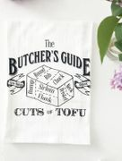 The Butcher's Guide Cuts of Tofu Cotton Kitchen Towel 28 x 29