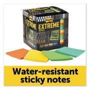 """Post-it Extreme Notes Water-Resistant Self-Stick Notes, Multi-Colored, 3"""" x 3"""", 45 Sheets, 12/Pack"""
