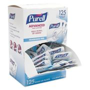 Purell Single Use Advanced Gel Hand Sanitizer, 1.2 mL, Packet, Clear, 125/Box