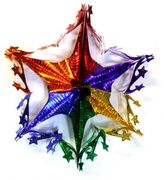 Rainbow Metallic Star Mobile  12""