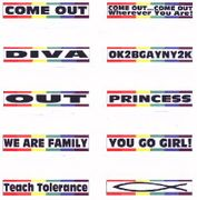 Rainbow Mini-Bumper Sticker