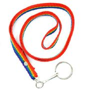 Rainbow Nylon Keychain with Wrist Loop Handle
