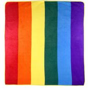 Rainbow Polar Fleece Blanket Throw  50 x 60