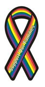 Rainbow Ribbon Magnet  Plain