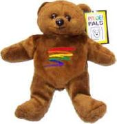 Rainbow Squiggle Plush Bear
