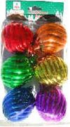 Rainbow Swirl Ornaments 6/pk