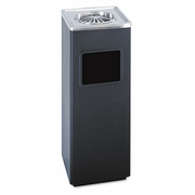 Safco Square Ash N Trash Sandless Urn and Waste Receptacle