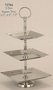 Serving Tray 3-Tier Nickelplated