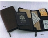 Sheridan Leather Zippered Travel Ticket Case  Brown