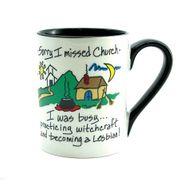 Sorry I Missed Church...becoming a Lesbian  Ceramic Mug