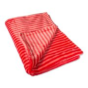 Throw Polyester Fleece Red Stripe 50 x 60
