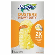 Swiffer 360° Dusters Refill, Dust Lock Fiber, Yellow, 6/Box, 4 Box/Carton