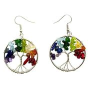 Tree of Life Earrings  Semi Precious Stones
