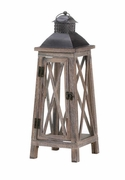 "Watchtower Wood Candle Lantern  21""h"