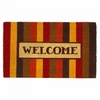 Welcome Mat / Door Mat  Autumn Striped