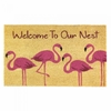 Welcome Mat / Doormat  Flamingo Family