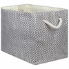 Woven Paper Rectangular Storage Bin Diamond Basketweave