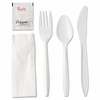 Boardwalk Wrapped Plastic 6pc. Cutlery Kits    (250/bx)