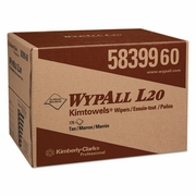 WypAll L20 Towels, BRAG Box, 2-Ply, 12 1/2 x 16 4/5, Brown, 176/Box