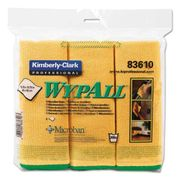 Wypall Microfiber Cloths, Reusable, 15 3/4 x 15 3/4, Yellow, 6/Pack