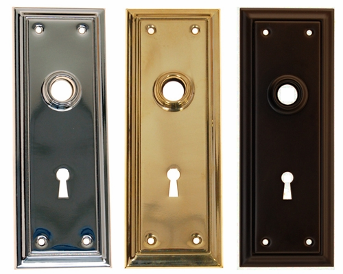 Classic Detailed Door Trim Plate w/ Key Hole