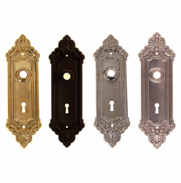 French-Baroque Inspired Door Trim Plate w/Keyhole
